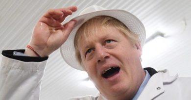 Boris Johnson pega o telefone do repórter depois de se recusar a olhar para a foto