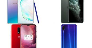 30 maiores lançamentos de smartphones do ano 2019
