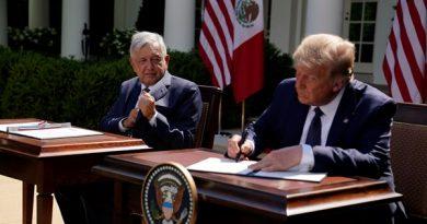 Donald Trump alega melhores laços ao hospedar o presidente do México