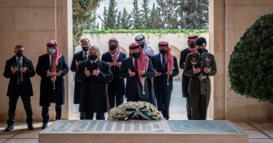 O rei e o príncipe da Jordânia aparecem juntos pela primeira vez desde a fenda